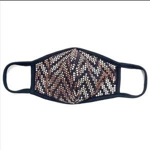 Accessories - Any 2 $30 Rose Gold Sequins Chevron Face mask